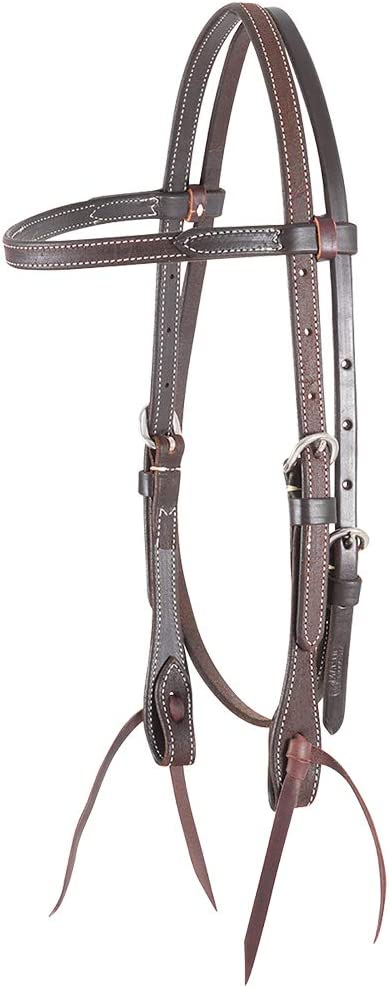 Martin Saddlery Roughout Browband Headstall Chocolate