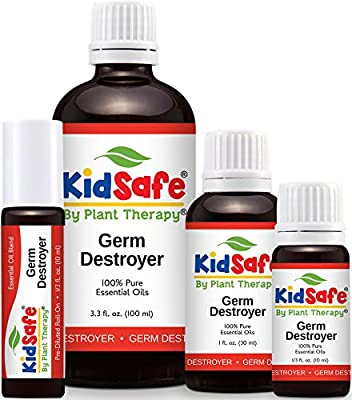 KidSafe Germ Destroyer Synergy Essentail Oil Blend, Undiluted Therapeutic Grade