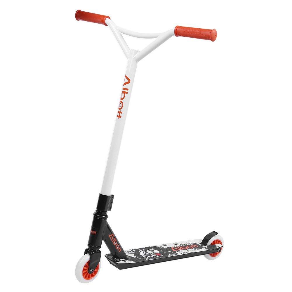 Albott Stunt Scooter, Roller kickscooter Pro Sport Trick Tretroller Cityroller Kickboard mit 360° Spin Fixed Bar