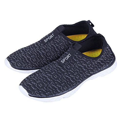 Water Shoes Drainage for Water Holes with Sneaker Shoes amp;grey Dry on Walking KEALUX Sport Bottom Activities Women Lightweight Men Black Water Quick Barefoot UFnTWt