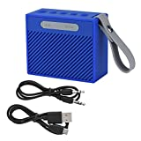 Mini Ultra-Portable IP66 Waterproof Bluetooth V4.2 Speaker, 66 Feet Bluetooth Range,10-hour Playtime, Wireless Stereo HiFi Heavy Bass Loudspeaker Music Player with Soft Strap for Outdoor, Bathroom