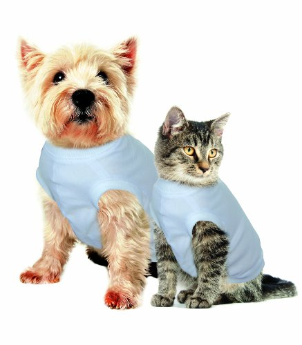 Purrfectly Comfy After-Surgery Pet Clothing Extra-Small Neck: 20 CM, Back Length: 31 CM, Chest: 30 CM