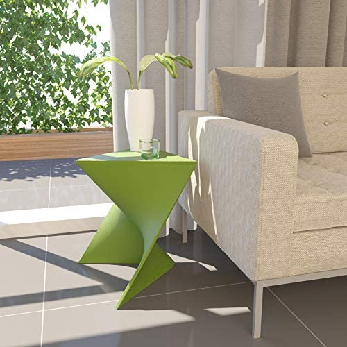 LeisureMod Randolph Modern Accent End Table Side Table Green