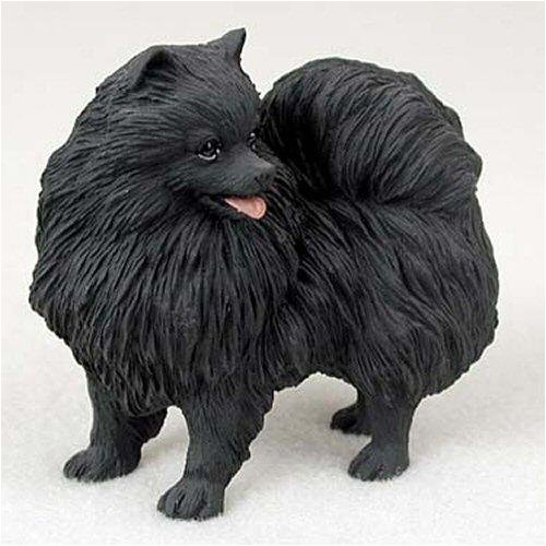 Black Original Dog Figurine (Pomeranian, Black Original Dog Figurine (4in-5in))