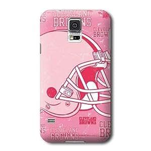 S5 Case, NFL - Cleveland Browns - Blast Pink - Samsung Galaxy S5 Case - High Quality PC Case