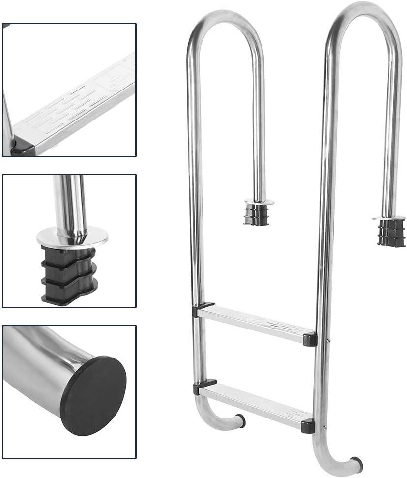 2-stufige Poolleiter Korrosionsschutz-Poolleiter Leicht zu halten Haltbar f/ür Schwimmb/äder