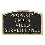 Montague Metal Products Property Under Video SurveillanceStatement Plaque, Black with Gold Letter, 5.5'' x 9''