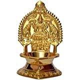 TejasCare Kamatchi Vilaku/Kamakshsi Devi Maa Brass Oil Lamp, 11cm Height(Brass)