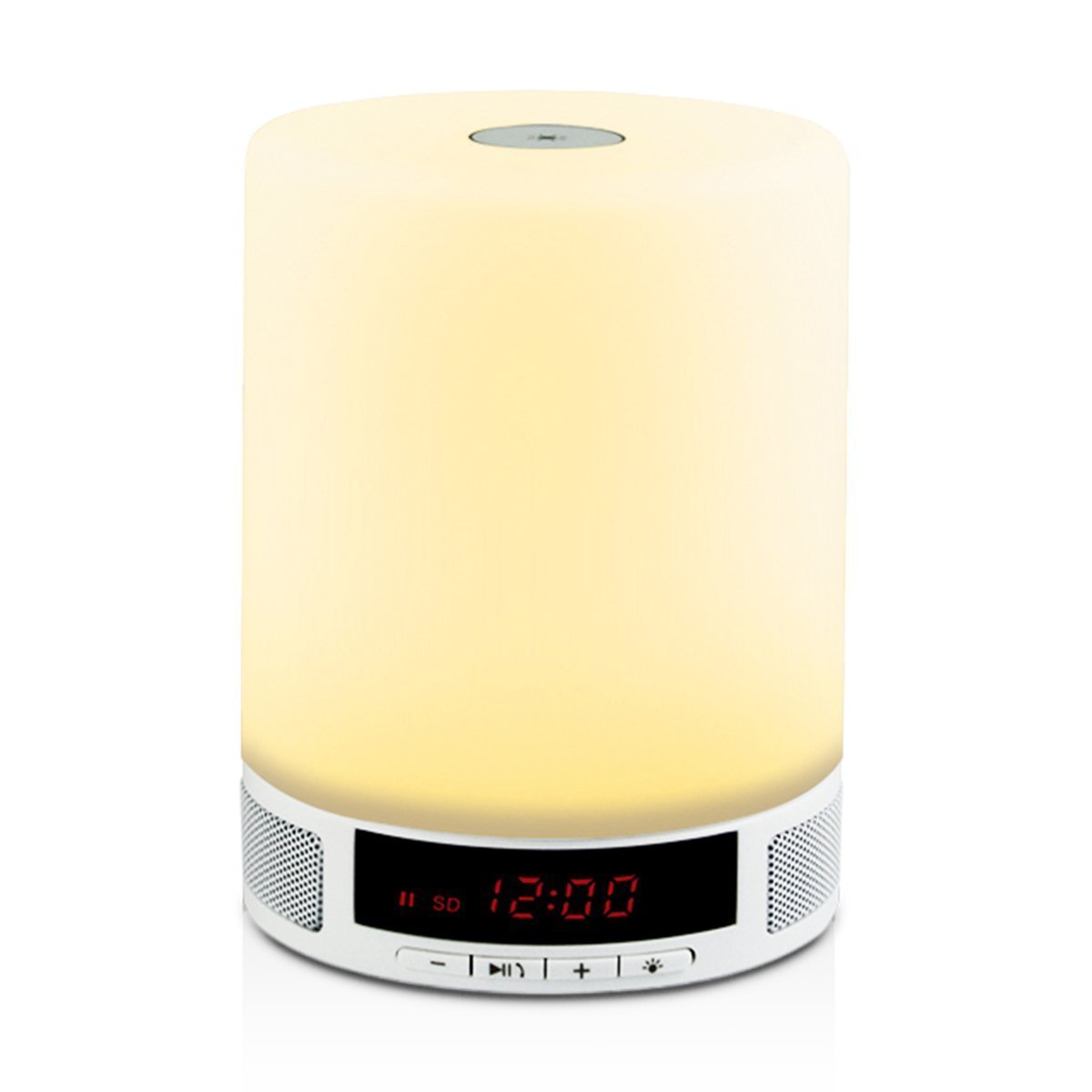 W-inds Bluetooth 4.0 Speaker with Bedroom Table Lamp,Nightlights for Kids,Alarm Clock, Dynamic Color Changing Mode, Speakerphone, TF Card, Hands-Free Calls