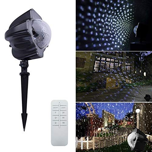 ojection Light 3.6W Christmas Spotlight Outdoor Laser Light Projector Lamp Decoration with Remote Controller for Christmas Thanksgiving Easter Birthday Holiday Party ()