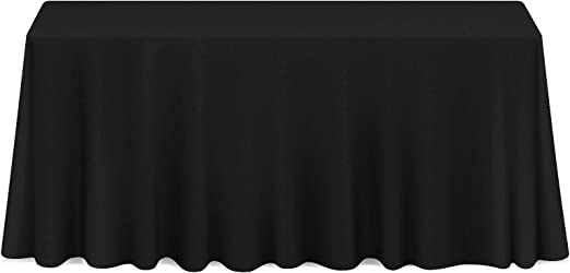 "10 Pack 132/"" Round Wedding Banquet Polyester Fabric Tablecloths Black"