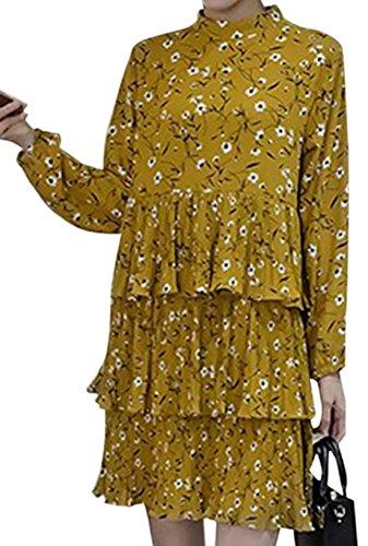 erdbeerloft - Vestido - Opaco - para mujer amarillo