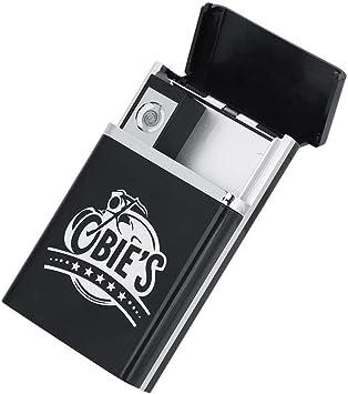 BESTT Caja de Cigarrillos con Encendedor - Estuche portátil 2 en 1 con un Encendedor eléctrico Recargable Super Mini USB (#1): Amazon.es: Equipaje