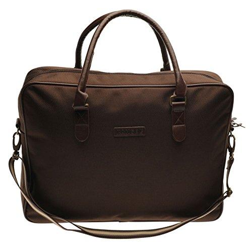 Kangol Otoño Messenger Bag Marrón vuelo bolsa de hombro, marrón, H: 32cm; W: 48cm; D: 11cm