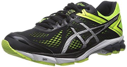 Outlet Browse Asics Gt 1000 De Los Hombres 4 Zapatillas De Running Negro / Plata / Amarillo Flash Diseñador V23aBB61C
