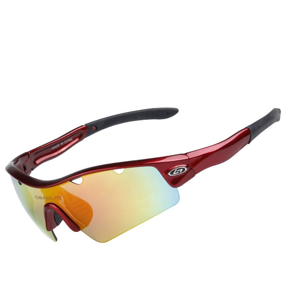 Sue Sport-Sonnenbrillen Polarisiertes Licht Radsport-Brillen UV-Schutz 400 Anti-Beschlag Übung Gläser Anpassung und MTB Mountainbike Skifahren Angeln Fahren Augenschutz Gläser