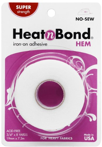 (HeatnBond Hem Iron-On Adhesive, Super Weight, 3/4 Inch x 8)