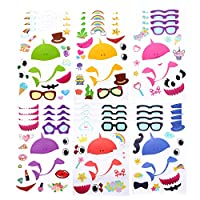 Licien Sunshine 24 Make A Baby Shark Stickers for Kids | 5.9 x 8.3 inches, 6 Styles | Shark Party Favors - Fun Craft Project Shark Party Supplies for Children 3+