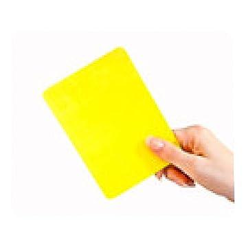 alfombrilla de ratón Mano que muestra la tarjeta amarilla: Amazon ...