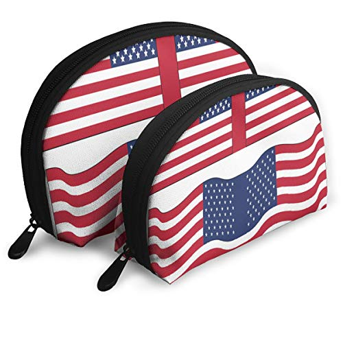 Makeup Bag American Flag Printables Portable Shell Storage Bag For Girls Thanksgiving Day Gift 2 -