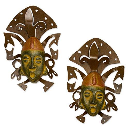 Ceramic Wall Mask (NOVICA Decorative Archaeological Ceramic Mask, Brown, 'Maya Masks')