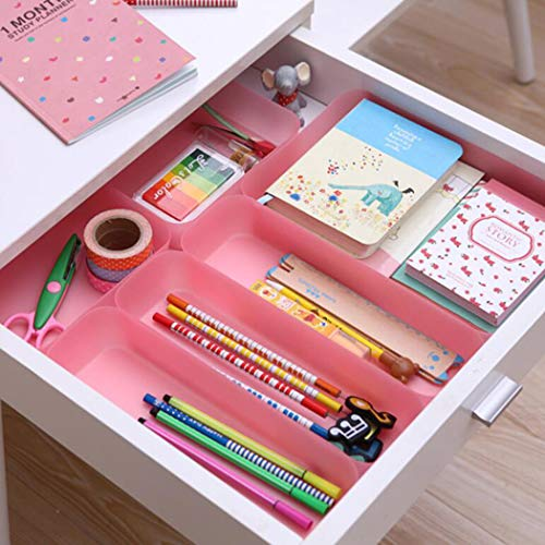Drawer Separated Storage Organizer Creative Kitchen Cutlery Storage Rectangular Plastic Small Box