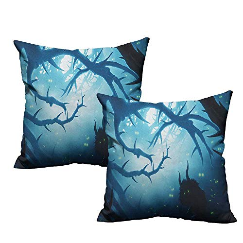 RuppertTextile Couple Pillowcase Mystic Animal with Burning Eyes
