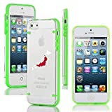 Apple iPhone 4 4s Ultra Thin Transparent Clear Hard TPU Case Cover Japan Japanese Flag (Green)