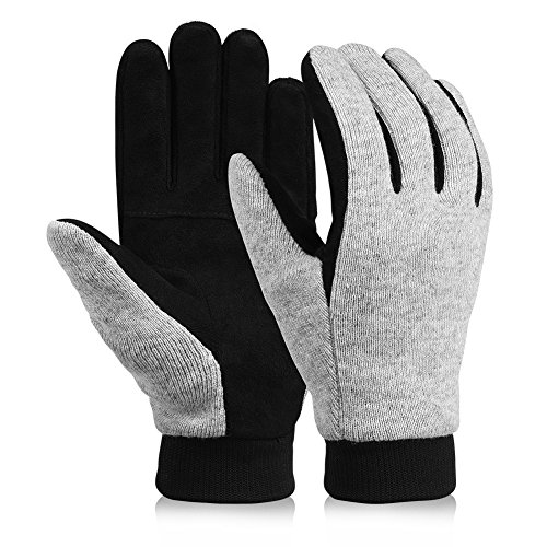 Vbiger Winter Warm Gloves Thick Knit Gloves Cold Weather Mittens Gloves for Men and Women