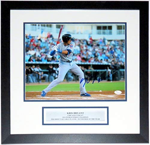 Kris Bryant Signed Cubs 1st Year 11x14 Photo & #2 Draft Pick Inscription - JSA COA Authenticated - Professionally Framed & Plate