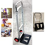 43'' PORTABLE ALUMINUM FOLDING DOLLY MOVING HAND CART TRUCKS HOLDS 200LBS