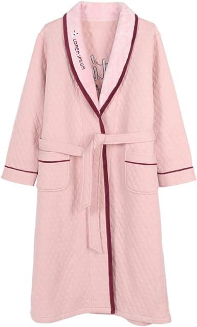 Bata Niña Camisón Mujer Invierno Pijamas Algodón Loungewear Otoño Albornoces De Manga Larga: Amazon.es: Ropa y accesorios