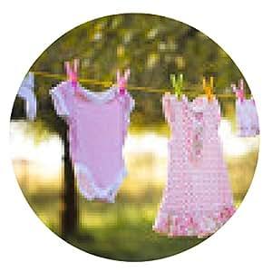 alfombrilla de ratón ropa de bebé - ronda - 20cm