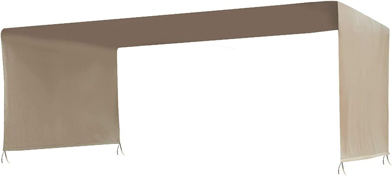 BenefitUSA 18' x 8.2' Universal Replacement Canopy for Pergola Structure (Beige)