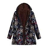 Limsea 2018 Women Outwear Plus Size Hooded Long Sleeve Cotton Linen Fluffy Fur Zipper Coat