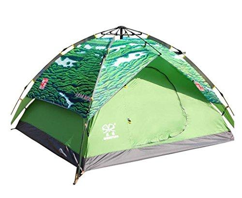 重さコンパクト付属品防水自動屋外の10トン3-4人ダブルドアのキャンプのテント (色 : 5#, サイズ さいず : 3.5kg)