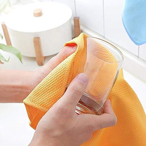 fen/être miroir Lot de 3 torchons de cuisine en microfibre et bambou super absorbants non pelucheux//chiffons de nettoyage pour /écran 40 x 30 cm Lot de 3