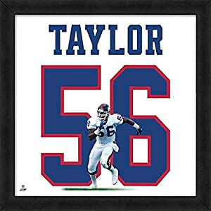 Lawrence Taylor Giants Jersey Uniform 20 x 20 Framed Photo - Licensed NFL Memorabilia