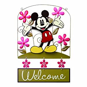 Russ Berrie 636226 Mickey Mouse Dimensional Metal Welcome Sign