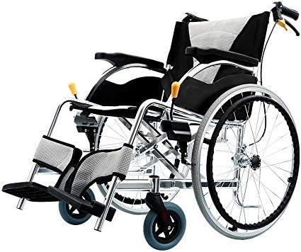 実用的 ポータブル輸送折り畳み式車椅子医療支援高齢者、身体障害者、リハビリテーション患者の看護カート高級シート3D衝撃吸収設計手動車椅子 福祉