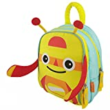 Zebrum Insulated Kids Lunch Box for School Boys &Girls with Dual Compartments, Kindergarten Kids Lunch Bag, Cute Cartoon Monster (Yellow)