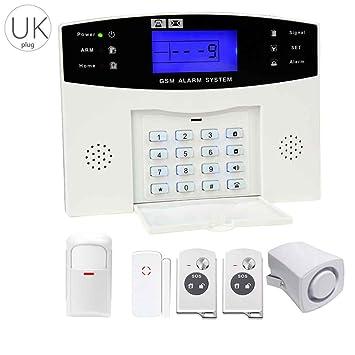 WiFi Sistema de seguridad inalámbrico sistema de alarma antirrobo casa casa intruso ventana PIR Detector GSM sirena exterior: Amazon.es: Electrónica