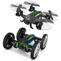 Dwi Dowellin Flying Car RC Quadcopter Four-axis Aircraft and Off-road Remote Control Flying Car 2 in 1 Multifunctional drone with 0.3MP WIFI Camera X9P-30W
