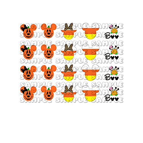 Fall / Winter Halloween Holiday Mouseketeers Nail Art Decals ()