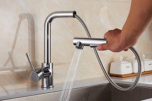 NewBorn Faucet Wasserhähne Warmes und Kaltes Wasser Größe Qualität Küche Leitungswasser Ziehen Waschbecken Waschbecken mit Warmen und Kalten Speisen rotierende Galvanik Mixer