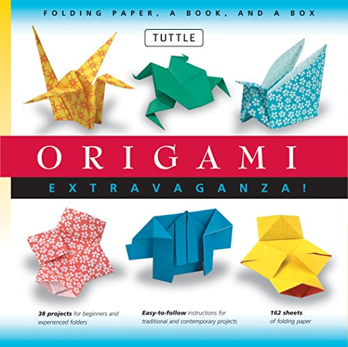 Origami Extravaganza! Folding Paper, a Book, and a Box: Origami Kit Includes Origami Book, 38 Fun Projects and 162 High-Quality Origami Papers: Great for Both Kids and Adults -