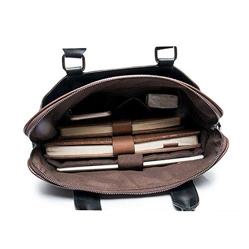 TT Bolso de hombro de los hombres bolsa de mensajero casual Bolso de la computadora bolsa de PU