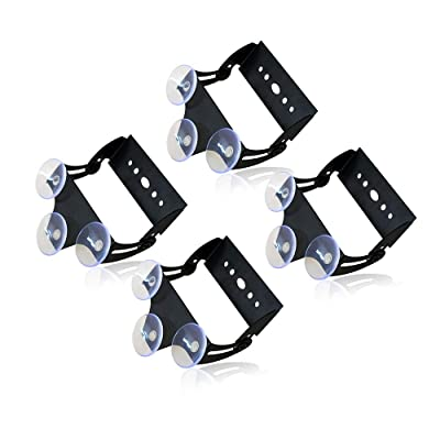 "Xprite Adjustable Suction Cups Holder Bracket for 18"" 27"" 31.5"" 35.5 Inch LED Emergency Traffic Advisor Strobe Light Bar - 4 Packs: Automotive"