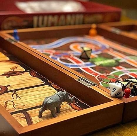Cardinal Games 6054665 Jumanji - Juego de Mesa de Madera Retro (versión Francesa): Amazon.es: Juguetes y juegos