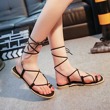 LFNLYX Tacones mujer Primavera Verano Otoño Confort Casual Glitter Stiletto talón otros Negro Plata rojo rosa caminando Black